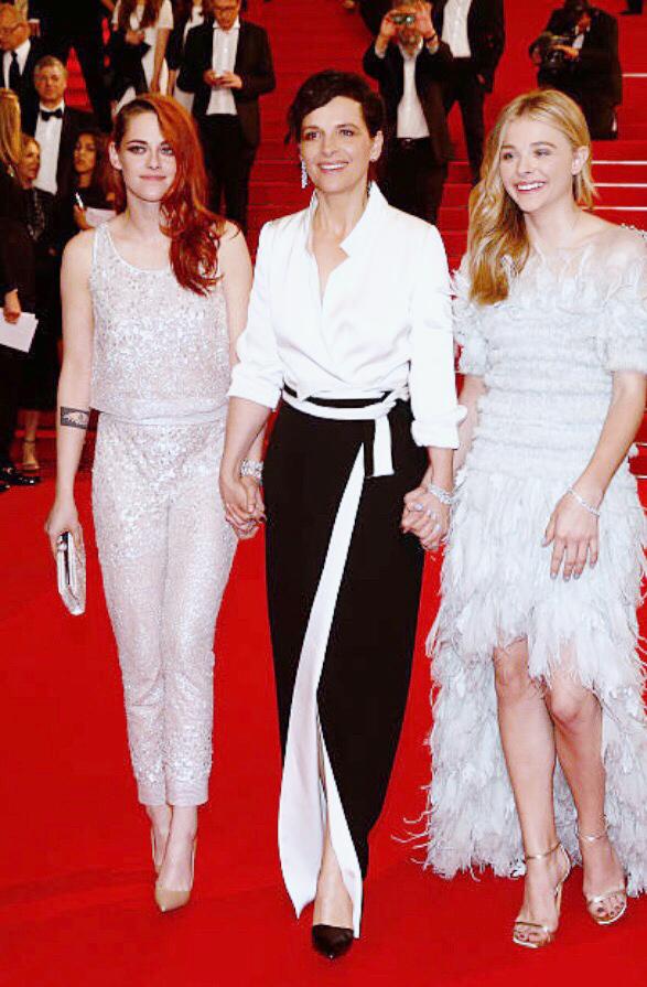 Kristen Stewart, Juliette Binoche & Chloë Moretz